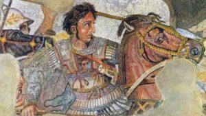 Alexandre, o Grande. Mosaico Romano em Pompeia